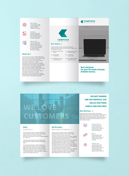 Computer Repair Trifold Brochure Example1