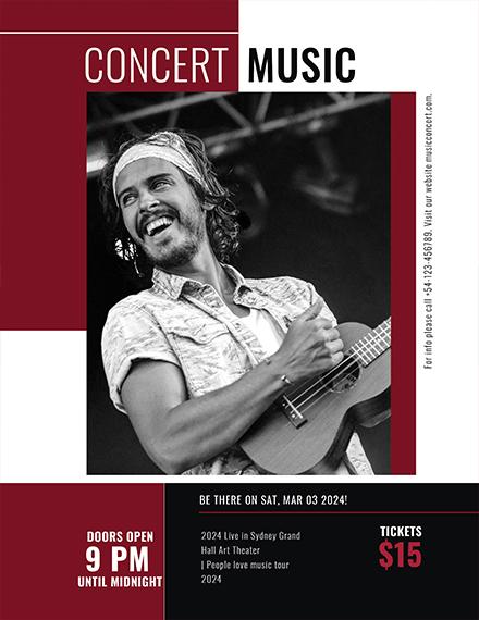 Concert Music Event Flyer Template