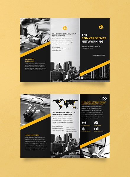 Convergence Networking Trifold Brochure Template