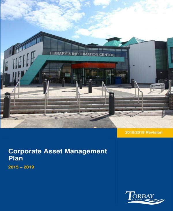 corporate asset management plan
