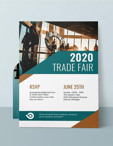 Corporate Trade Event Invitation Design