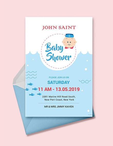 Couples Baby Shower Invitation Templates