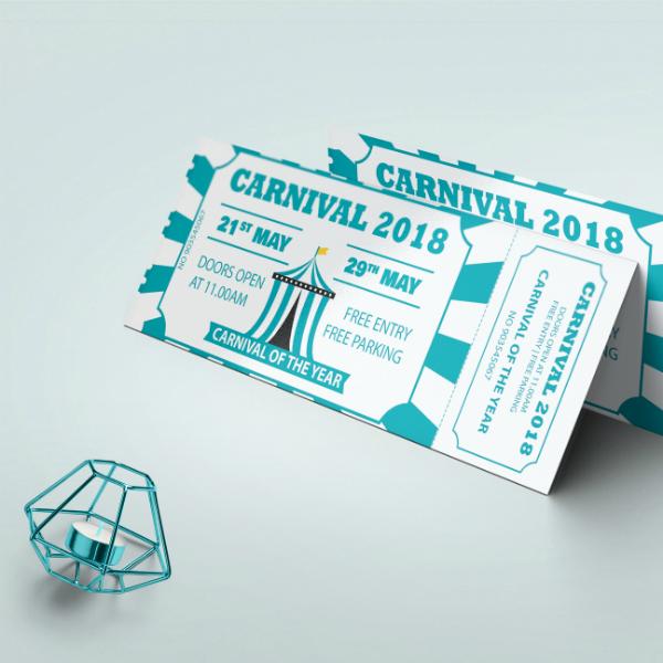 creative carnival event ticket template