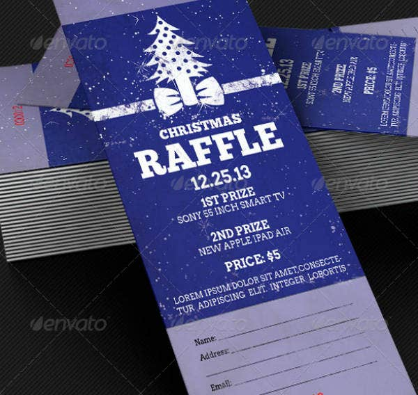Creative Christmas Raffle Ticket Template