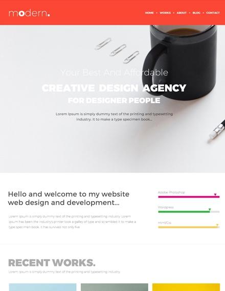 creative design agency portfolio website template