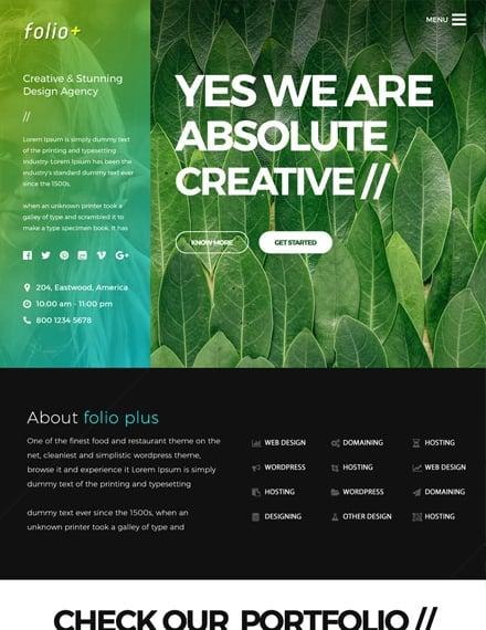 creative design agency website template