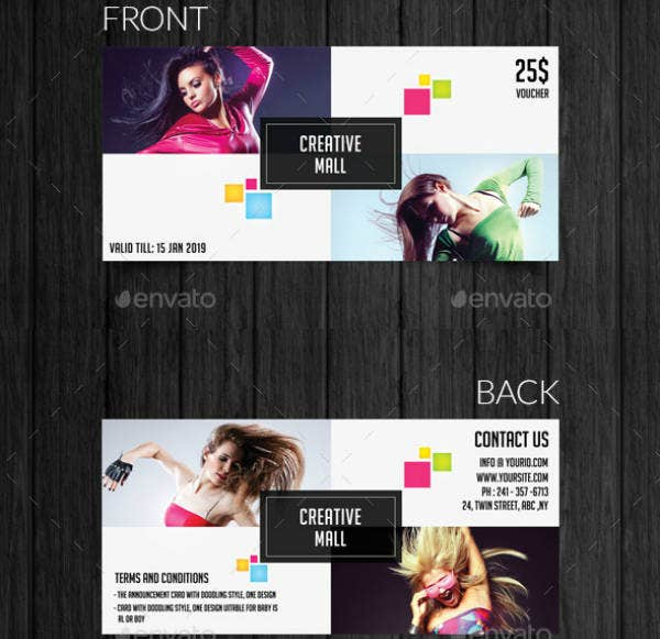 creative mall modern voucher template