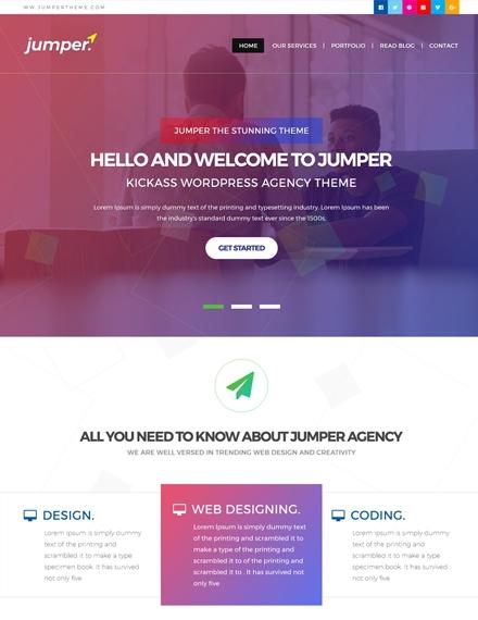 creative web design agency template