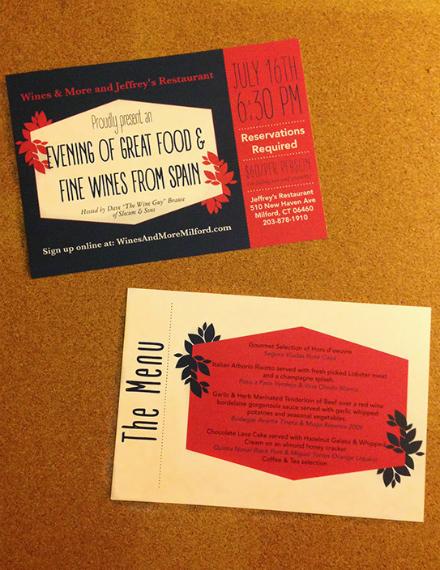 creative winer dinner invitation design