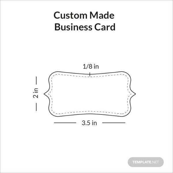 custom made business card sample infographic