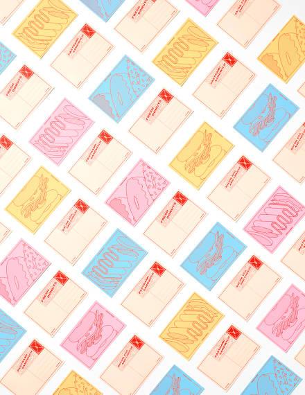 delicious postcard design