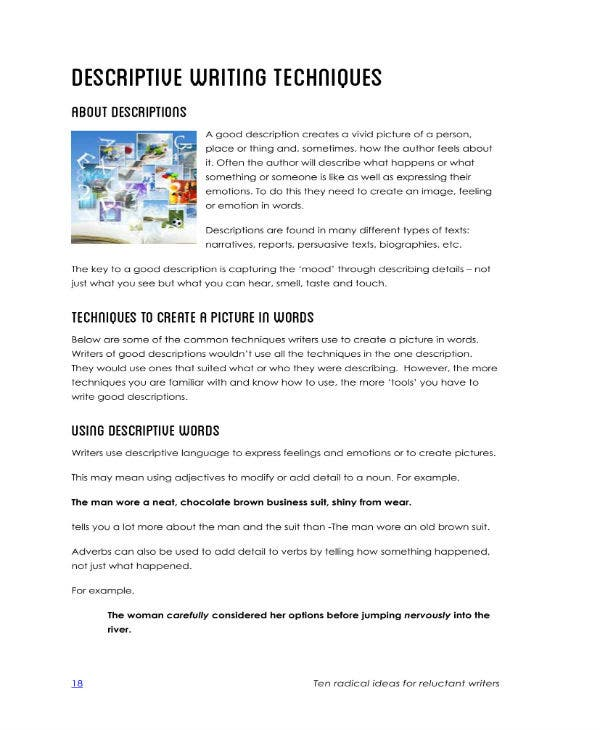 descriptive writing techniques 1