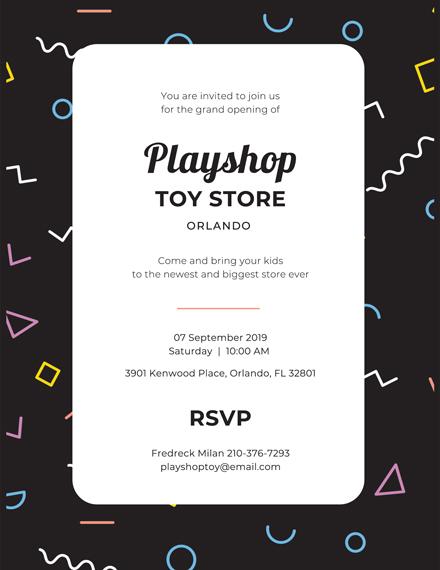 doodles business event invitation design