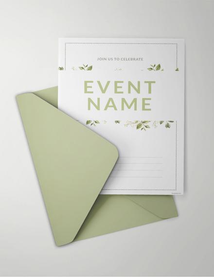 Editable Blank Event Invitation Example