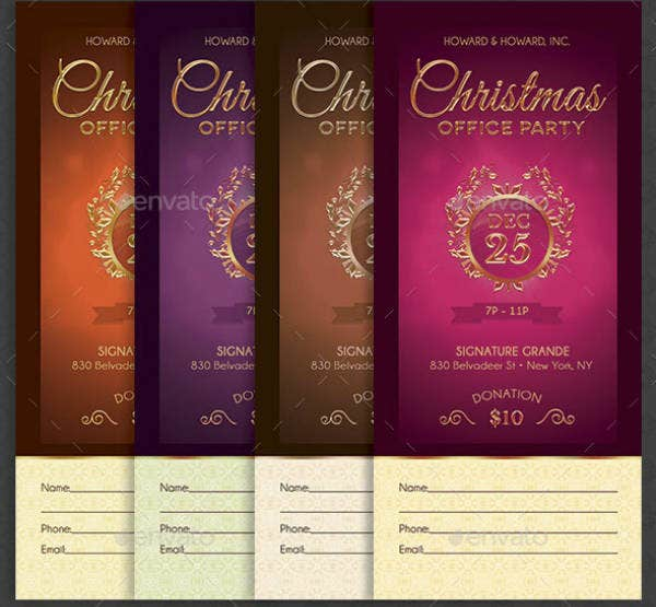 Elegant Christmas Office Party Template