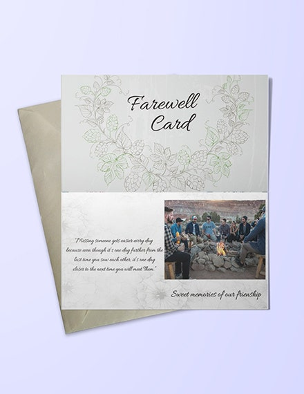 Elegant Farewell Invitation Card Example