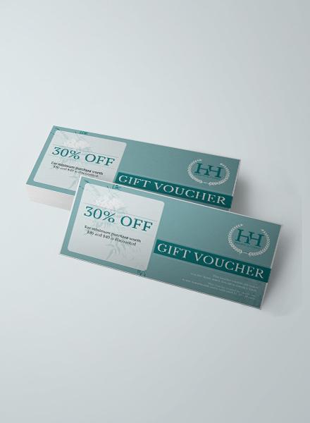 elegant hotel gift voucher template