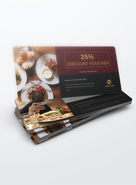 elegant lunch discount voucher example