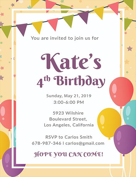 email birthday invitation template1