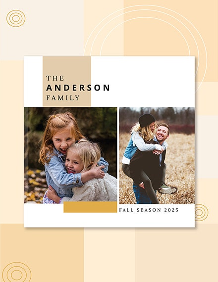 Family Photo Book Cover Template