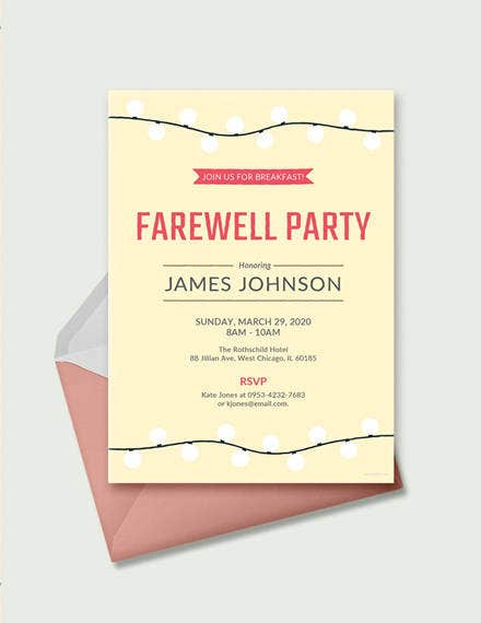 Farewell Breakfast Invitation Template1