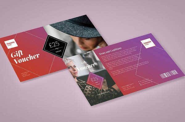 fashion modern gift voucher template