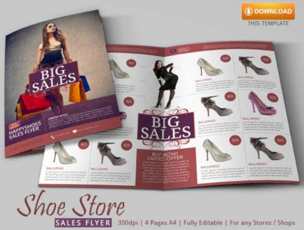 fashion sales flyer template