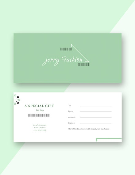 fashion store gift certificate