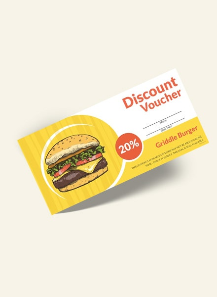 Fast Food Discount Voucher Template1