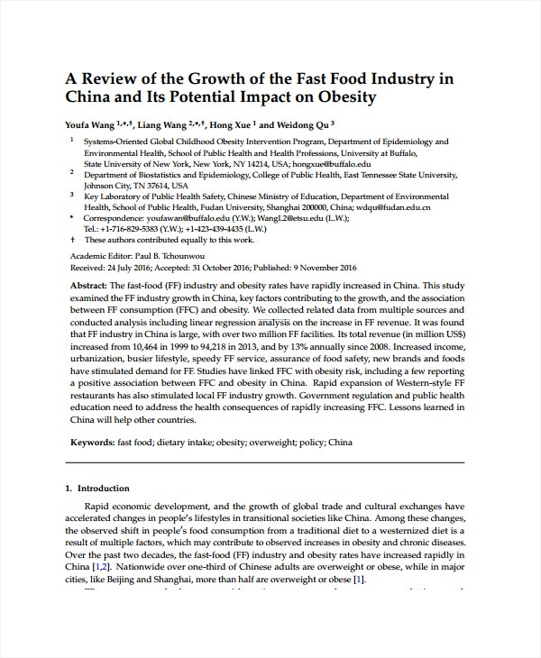 fast food industry growth analysis