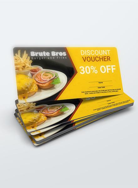 fast food voucher sample