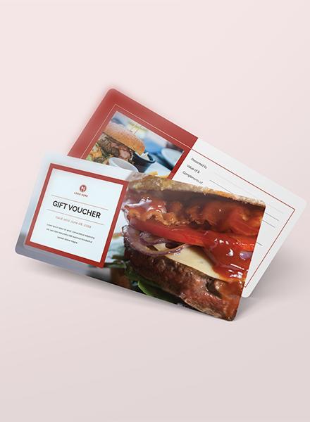 fastfood gift voucher template