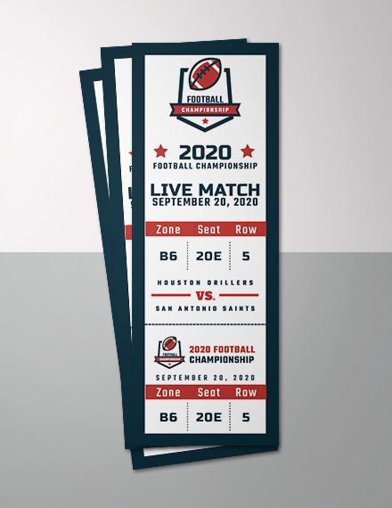 flat sports event ticket sample