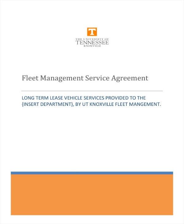 fleet management service contract