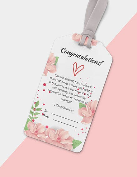 floral gift tag template