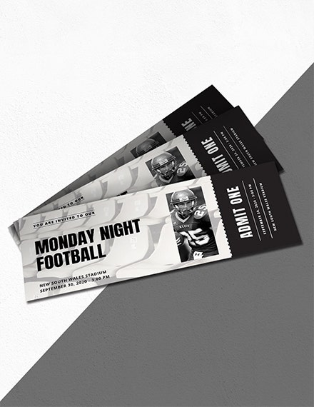 football sports ticket invitation template