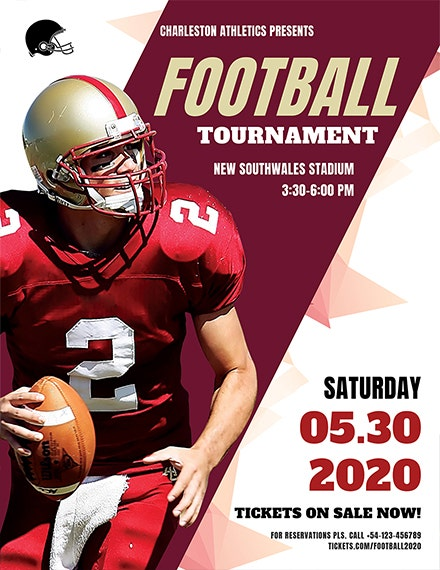 football tournament sports flyer template