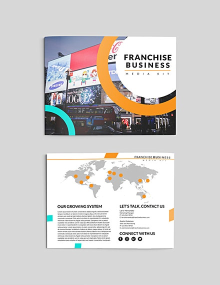 franchise business media kit template