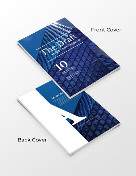 free architecture magazine template 1x