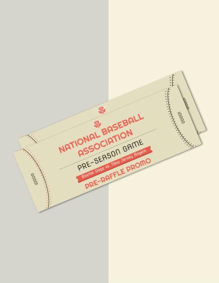 free baseball raffle ticket template