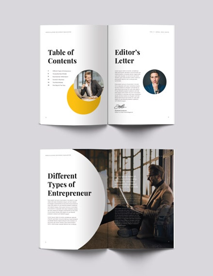 free business magazine template