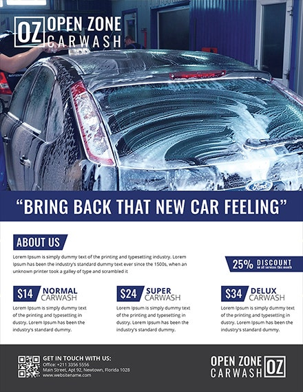 free car cleaning service flyer template