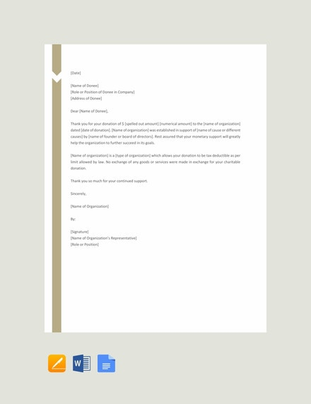 free charitable donation letter template 440x570 1