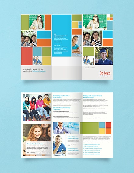 Free College A3 Brochure Template 4
