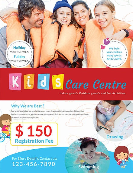 Free Day Care Center Flyer Template 1x