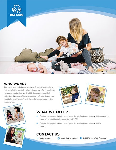 Free Daycare Flyer Template 1x