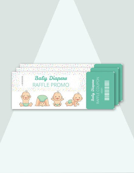 free diapers raffle ticket template
