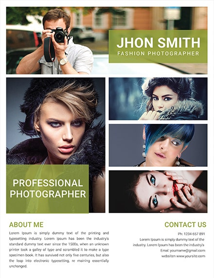 free fashion photography flyer template