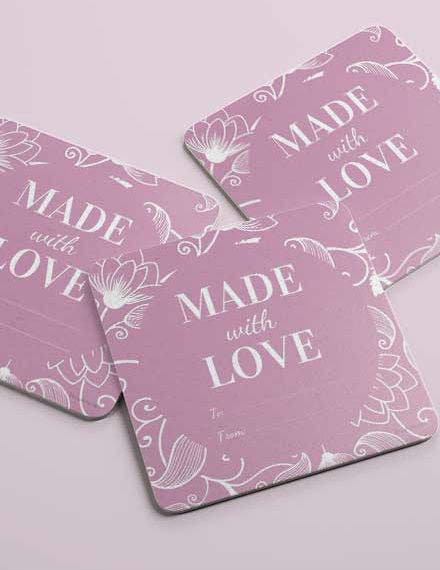 Free Floral Gift Label Template1