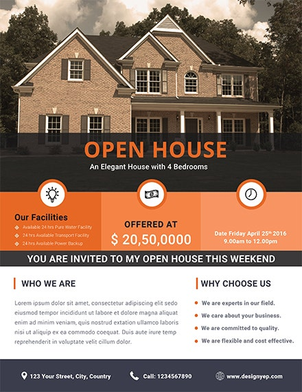 free home real estate flyer template